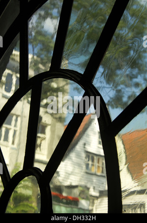 Window in the The Jewish Historical Museum Amsterdam Holland - Stock Photo