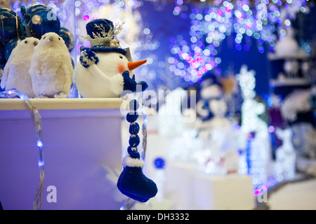 Christmas Decorations in Garden Center - Stock Photo