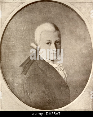 Wolfgang Amadeus Mozart, 1756 - 1791. Austrian composer and musician as a child. - Stock Photo