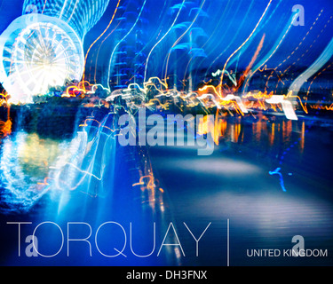 GB - DEVON: Torquay by Night (Digital Art) - Stock Photo