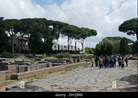 ancient, archeologic, Europa, Italy, Latium, Lazio, Ostia antica, outdoor, Rome,  day, travel - Stock Photo