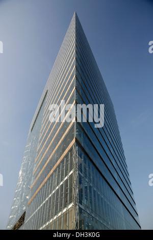 Stadttor, City Gate skyscraper, Duesseldorf, North Rhine-Westphalia - Stock Photo