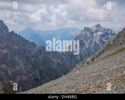 Mountain range in Triglav National Park, Slovenia - Stock Photo