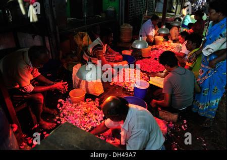 Koyambedu Flower Market Chennai Tamil Nadu India Asia Stock