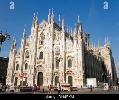 Duomo di Milano (Milan Cathedral) taken from Piazza del Duomo, Milan, Italy. - Stock Photo