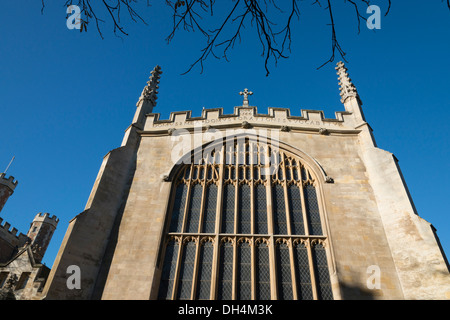 St Johns College chapel Cambridge on a sunny autumn day - Stock Photo