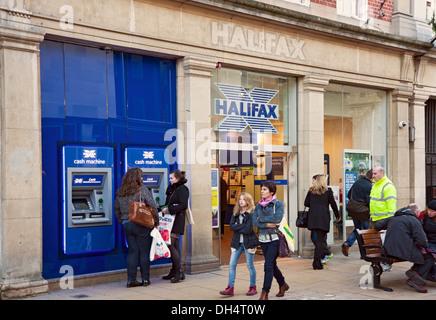 Halifax Bank York North Yorkshire England UK United Kingdom GB Great Britain - Stock Photo