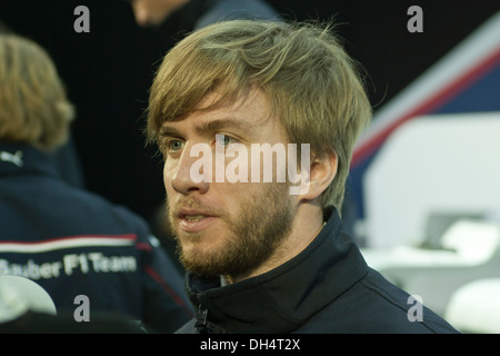 Nick Heidfeld at the 2007 launch of the BMW Sauber in Valencia Spain in 2007 - Stock Photo