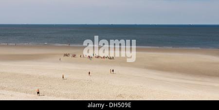 On the beach of Wangerooge island, Lower Saxony - Stock Photo
