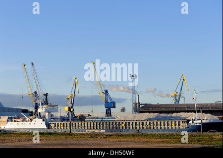 overseas-port  in the Hanseatic city of Wismar, Mecklenburg-Hither Pomerania,  Germany - Stock Photo