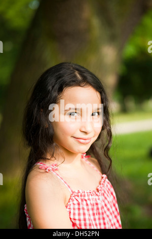 Smiling girl, portrait - Stock Photo