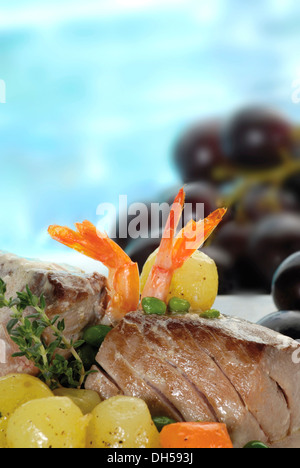 Stewed tuna, sweet-and-sour - Stock Photo
