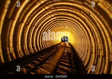 Bund Sightseeing Tunnel, Pudong, Shanghai, China, Asia