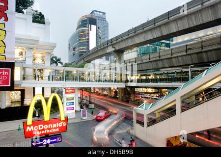 BTS Skytrain, Silom line, Bangkok, Thailand - Stock Photo