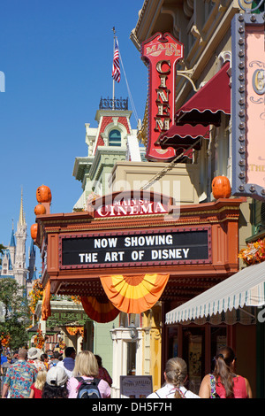 Main St. Cinema at the Magic Kingdom, Disney World Resort, Orlando Florida - Stock Photo