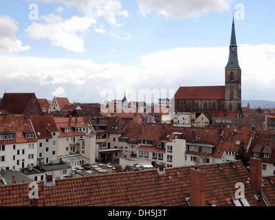 outdoor scenery in Hildesheim, a city in Lower Saxony, Germany - Stock Photo