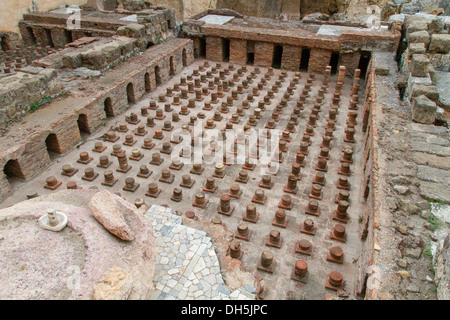 Foundations of the Roman baths, archaeological excavation site, Beirut, Lebanon - Stock Photo