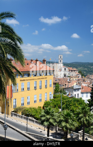 International Perfume Museum & View over Grasse Old Town Alpes-Maritimes France - Stock Photo