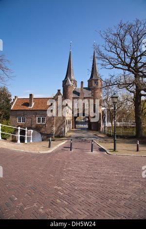 Europe, Netherlands, Delft, Oostpoort - Stock Photo
