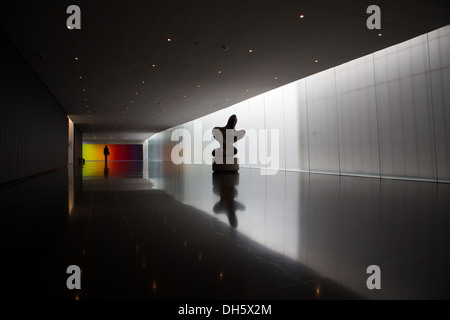 Interior of the Israel Museum in Jerusalem, Israel - Stock Photo