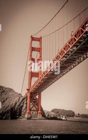 The Golden Gate Bridge, San Francisco, California - Stock Photo