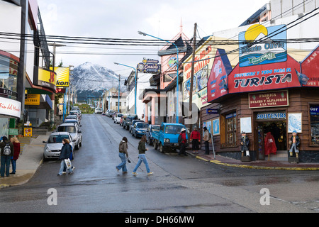 Ushuaia, the southernmost city in Argentina, Beagle Channel, Tierra del Fuego, Argentina, South America - Stock Photo