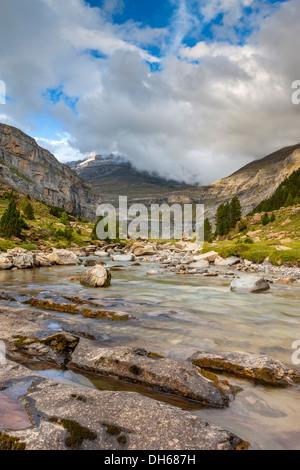 River Arazas in the Valle de Ordesa, Parque Nacional de Ordesa y Monte Perdido, Pyrenees, Huesca province, Aragon, - Stock Photo