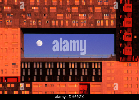 Residential building Mirador, Culture of congestion by the Dutch MVRDV architects, Barrio Sanchinarro, Madrid, Spain, - Stock Photo