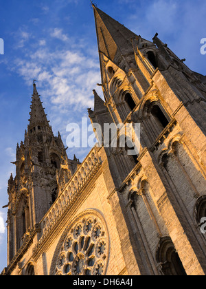 Cathedral of Our Lady of Chartres, Notre-Dame de Chartres, Chartres, Eure-et-Loir, France, Europe, PublicGround - Stock Photo