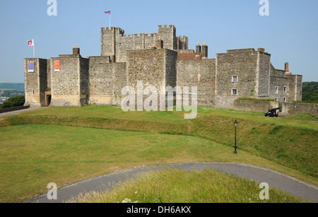 The historic ramparts of Dover Castle, Kent, England. - Stock Photo