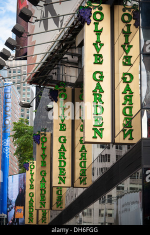 USA · A Times Square Branch Of The Olive Garden Restaurant Chain On Friday,  November 1,