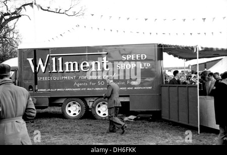 John Willment was a racer-dealer who had large garage businesses in Twickenham. His mobile shop lorry at Goodwood, - Stock Photo