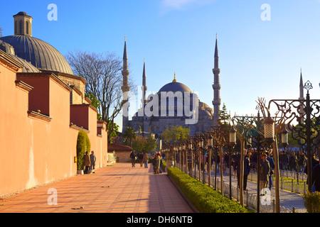 Blue Mosque (Sultan Ahmet Camii), Istanbul, Turkey - Stock Photo
