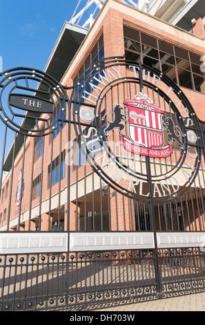 Gates Stadium of Light Sunderland SAFC, Tyne and Wear, England, UK - Stock Photo