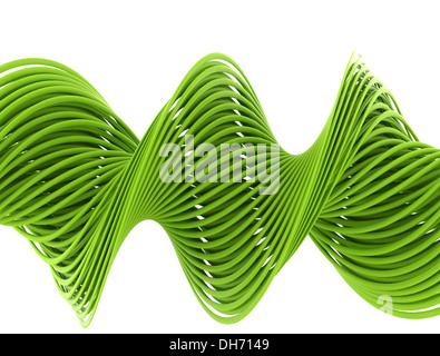 Green wire isolated on white background