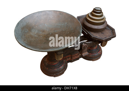 Antique set of Grocers scales - Stock Photo