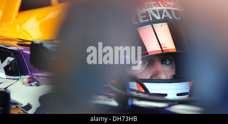 Antonio Felix Da Costa of Red Bull racing during the F1 young driver/tyre test at the Silverstone Circuit, Northamptonshire. - Stock Photo