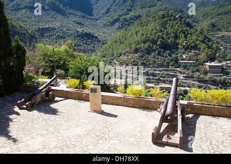 Memorial to William Waldren archaeologist and prehistorian Deià, Majorca, Balearic Islands, Spain - Stock Photo