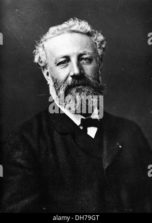 Jules Verne - French Writer - Photographic Portrait by Felix Nadar - Stock Photo