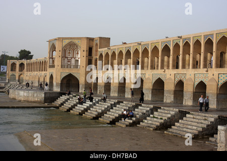 Khaju Bridge, Isfahan, Iran - Stock Photo