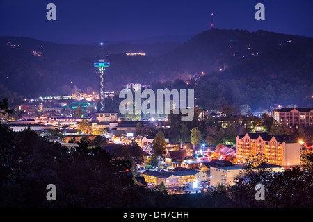 Gatlinburg, Tennessee in the Smoky Mountains. - Stock Photo