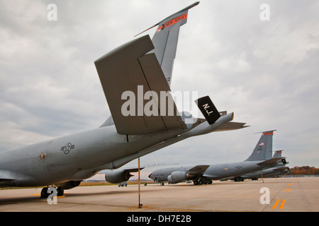 KC-135R Stratotankers assigned to the 108th Wing, New Jersey Air National Guard, at Joint Base McGuire-Dix-Lakehurst, - Stock Photo