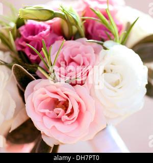 beautiful summer wedding, seasonal mixed flower bouquet  Jane Ann Butler Photography  JABP1004 - Stock Photo