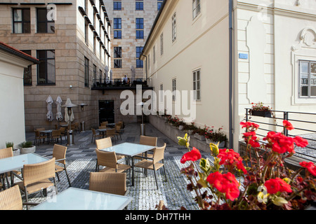 Four Seasons Hotel, view from the river Prague Czech Republic, Europe - Stock Photo
