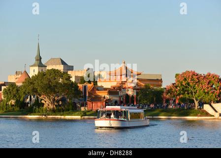 Epcot World Showcase view, Disney World Resort, Orlando Florida - Stock Photo