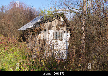 old ruined hut - Stock Photo