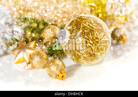 Christmas decoration on abstract background - Stock Photo