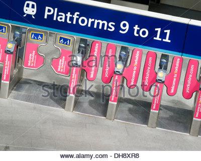 King's Cross Railway Station London Borough of Camden London England - Stock Photo