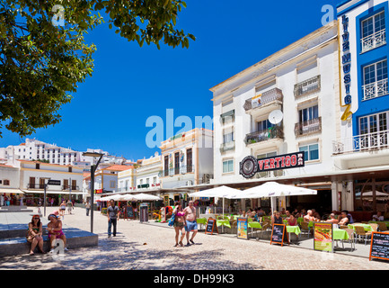 the old town in Albufeira Algarve Portugal EU Europe - Stock Photo