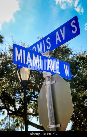 Miami Ave Street Sign - Stock Photo